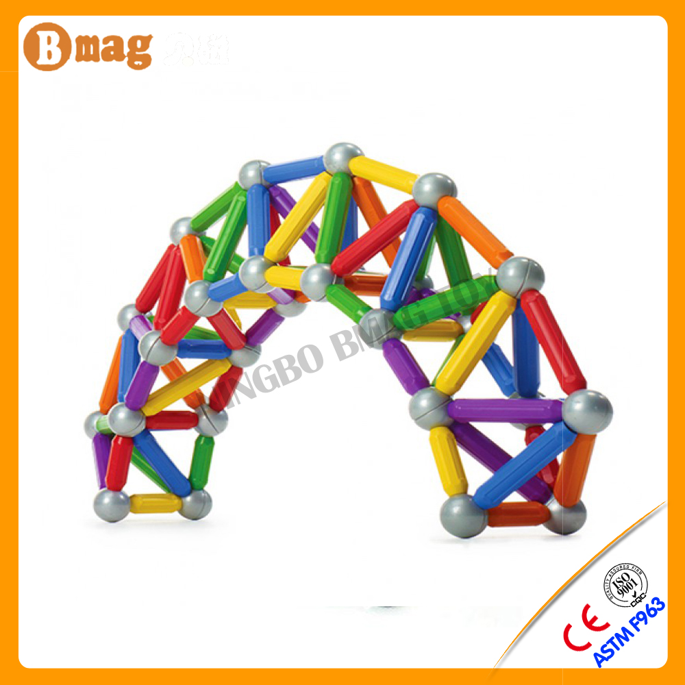 BSCI member factory plastic flexible magnetic stick ball toy