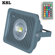 50W China Suppliers Classic Waterproof Outdoor Color Changing Battery Rgb Led Flood Lights With Ir Remote Control Blue