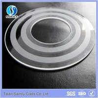 3mm tempered screen printed round glass cover