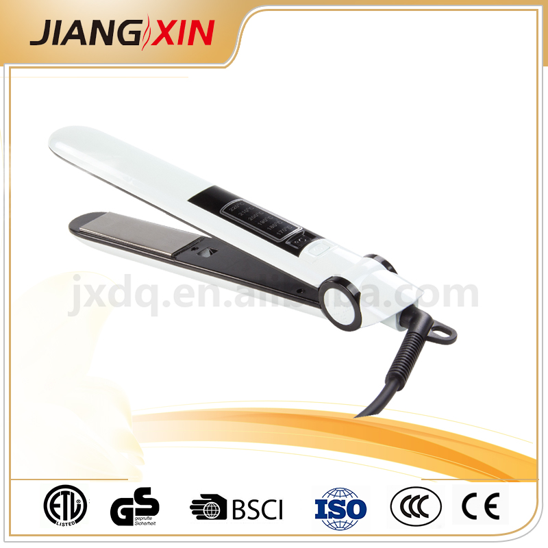 LED display electric flat irons white hair straightner with ionic generator