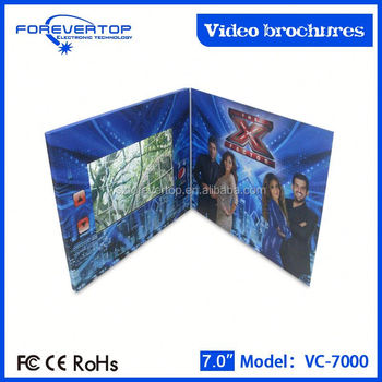 Hot sale 7 inch lcd screen video brochure series / video paper lantern