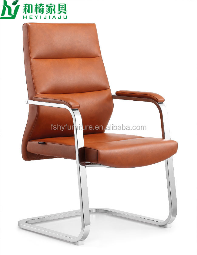modern leather throne office chair with chromed base