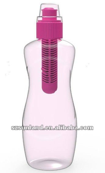 drink bottle with carbon filter