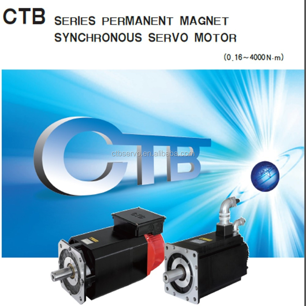 CTB 6.3KW 60N.m 1000 rpm AC permanent magnet synchronous servo electric motor and drive
