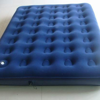 inflatable double flocked air mattress flocked full-size air bed with built-in pump 1.91m*1.37m*28cm or custom size
