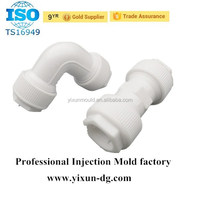 Customized Moulded ABS PVC HDPE Plastic Water Pipe Fitting