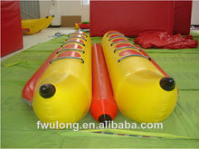 Rigid Inflatable Double Tube PVC Banana Boat for Sales
