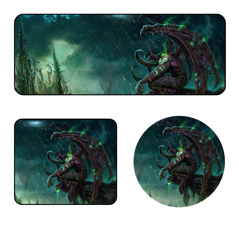 World Of Warcraft 900*400*3MM Super Large Size Gaming Mouse Pad Nature Rubber Mousepad Non-slip Locking Edge Keyboard Mat