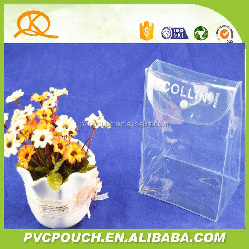 hot selling factory price pvc clear stand up pouch bag plastic cosmetic bag supply the free sample
