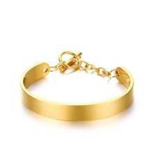 high polishing IP gold platedStainless Steel Link Chain Charm Bracelet for gifts