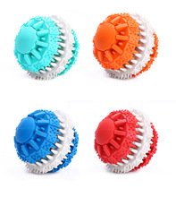 High quality rubber safety eco-friendly clean tooth ball pet toys