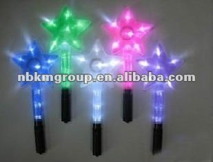 2012 New colorful flashing led star wand/star stick