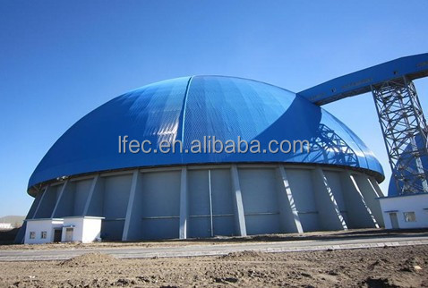 High Security Space Frame Shed Dome Coal Storage Covering