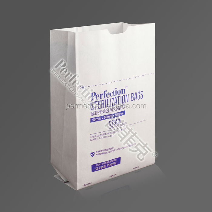bulk paper bags sterilization pouch STEAM/EO/medical device packaging