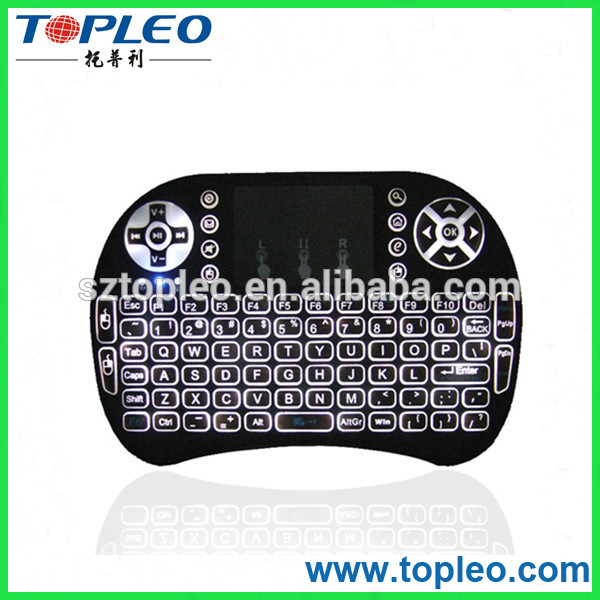 factory direct selling! mini i8+ BT Bluetooth backlit Wireless Keyboard for Windows 2000 XP Vista 7 8 10,