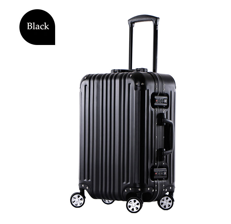 "2016 New Style 21"" Black Aluminum Suitcase Aluminum Luggage case"