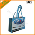 promotional recycle laminated PP woven carrier bag