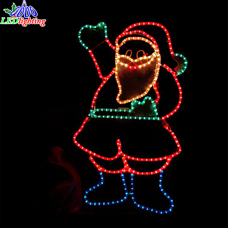 Black Santa Claus Christmas Decorations christmas motif light