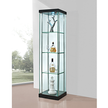 Tall glass jewelry chest of drawers