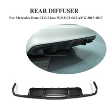 B Style Carbon Fiber W218 Auto Rear Diffuser for Mercede s Ben z CLS-Class W218 CLS63 AMG 15-17