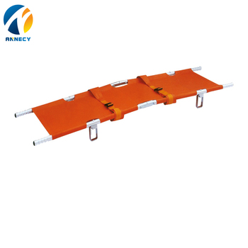 AC-FS010 new medical products Available for folding stretcher OEM and ISO9001&CE Certificates four folding stretcher for sale