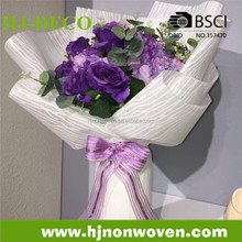 non-woven fabric flower wrapping and table runner