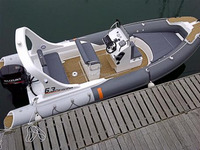 Liya 3m-8m FRP inflatable boat with outboard engine