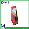 high quality square bottom plastic bags with zipper for snack