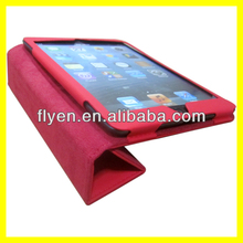 2014 Newest Cover for iPad Mini case,pu trifold leather Case for iPad Mini 2