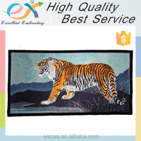 supplier customize embroidered iron on tiger patch