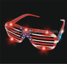 Patriotic Light up Shutter Shading sunglasses,fun for 4th of July party