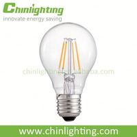 A60 E27 6W a60 4w clear electric bulb 6w led filament bulb
