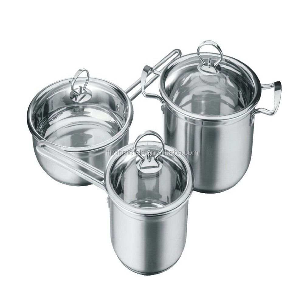 Stainless Steel Primary or Colorized Cookware