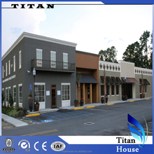 Wide Span Light Steel Structure Shop Buildings in Turnkey