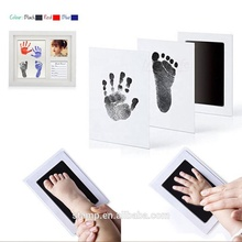 2 Uses for baby photo frame 100% safe inkless ink pad Newborn Baby Handprint or Footprint Clean-Touch Ink Pad