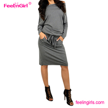 Fashion Grey Off Shoulder Winter Bodycon Party Latest Dress Designs Photos