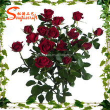 Wholsale China artificial flower decor wedding artificial Chinese rose flower fake decoration flower