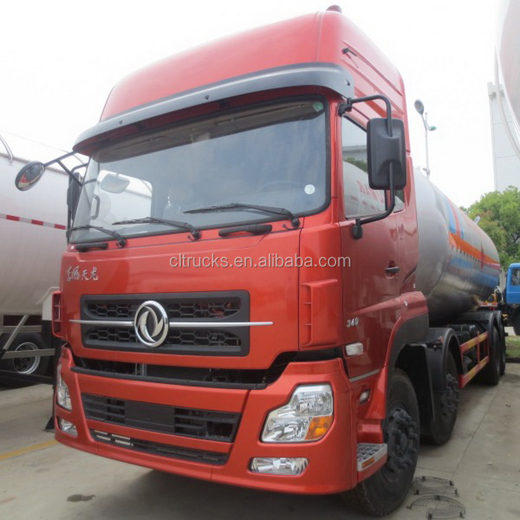 Top level 8x4 lpg loading tanker truck 35.5m3 lpg delivery truck