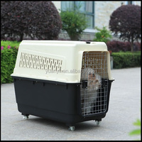 Plastic pet dog carrier cage large dog carriers double dog carrier