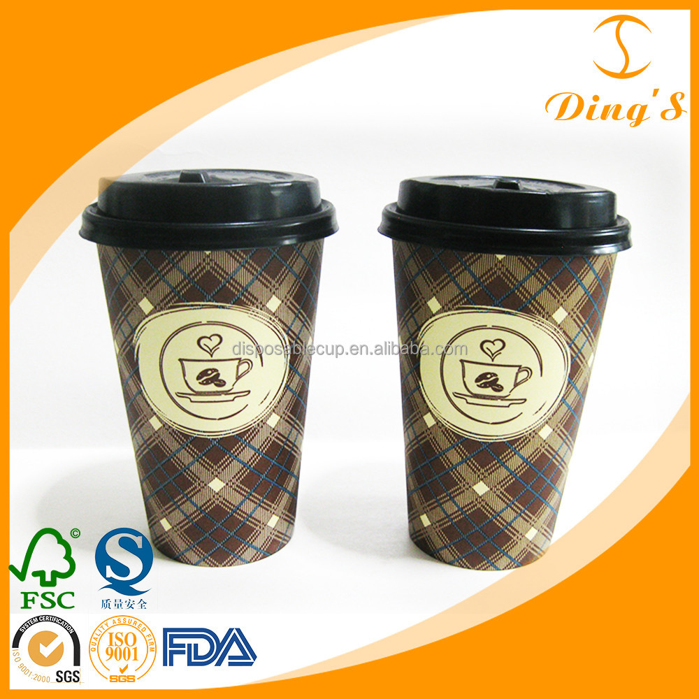 Coffee To Go Cups Take Away Cups Paper Cups with Lids