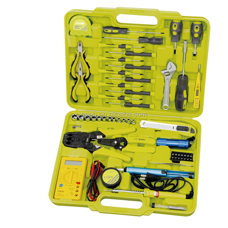 63pcs electrician tools electrical complete tool box set