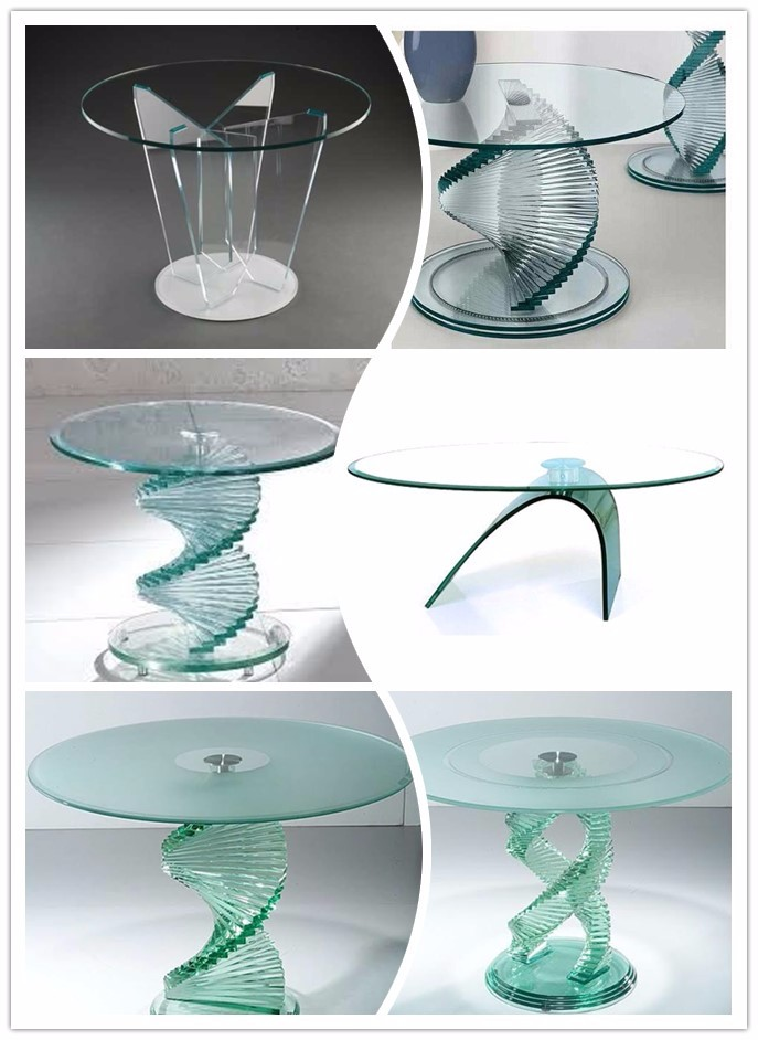 High quality modern hot bend glass coffee/ending table