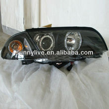 For BMW E46 318i 323i 320i 325i 330i Head lamp 4 doors Angel Eyes 1998-2001V1