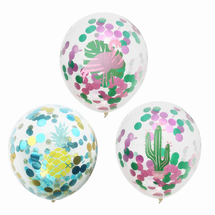 Wholesale party decoration set latex Flamingo Pineapple Cactus Palm Latex Balloons Sets for Birthday Party Wedding Decorations
