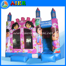 Dora giant inflatable bouncer/4.5mH commercial bounce house/Aier used inflatable bouncer sale
