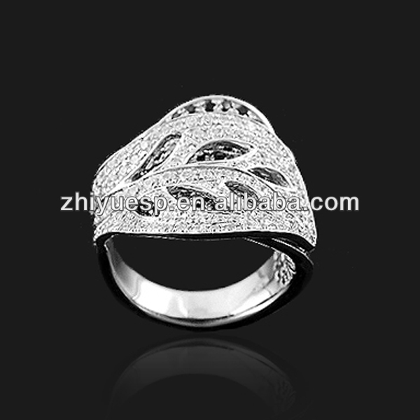 Sterling silver index finger rings leaf ring buy jewelry wholesale