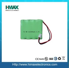 NiMH aa 4.8v 2400mah rechargeable battery pack