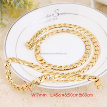 50cm & 7mm Jewelry 2015 new Sandi gold jewellery golden chains wholesale filled platinun bands jewellery designs catalogue