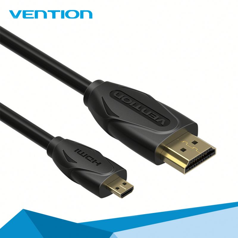 2016 original quality new arrival Vention gold 2160p micro hdmi cable