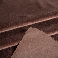 wide varieties brown thick 100% polyester stretch knit fabric for women